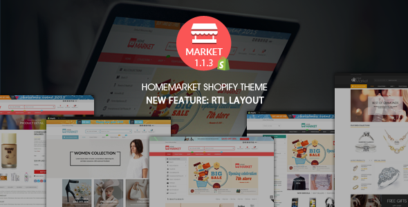Home Market - Flexible Shopify Theme - Shopping Shopify