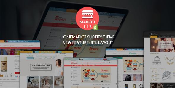 Home Market - Flexible Shopify Theme