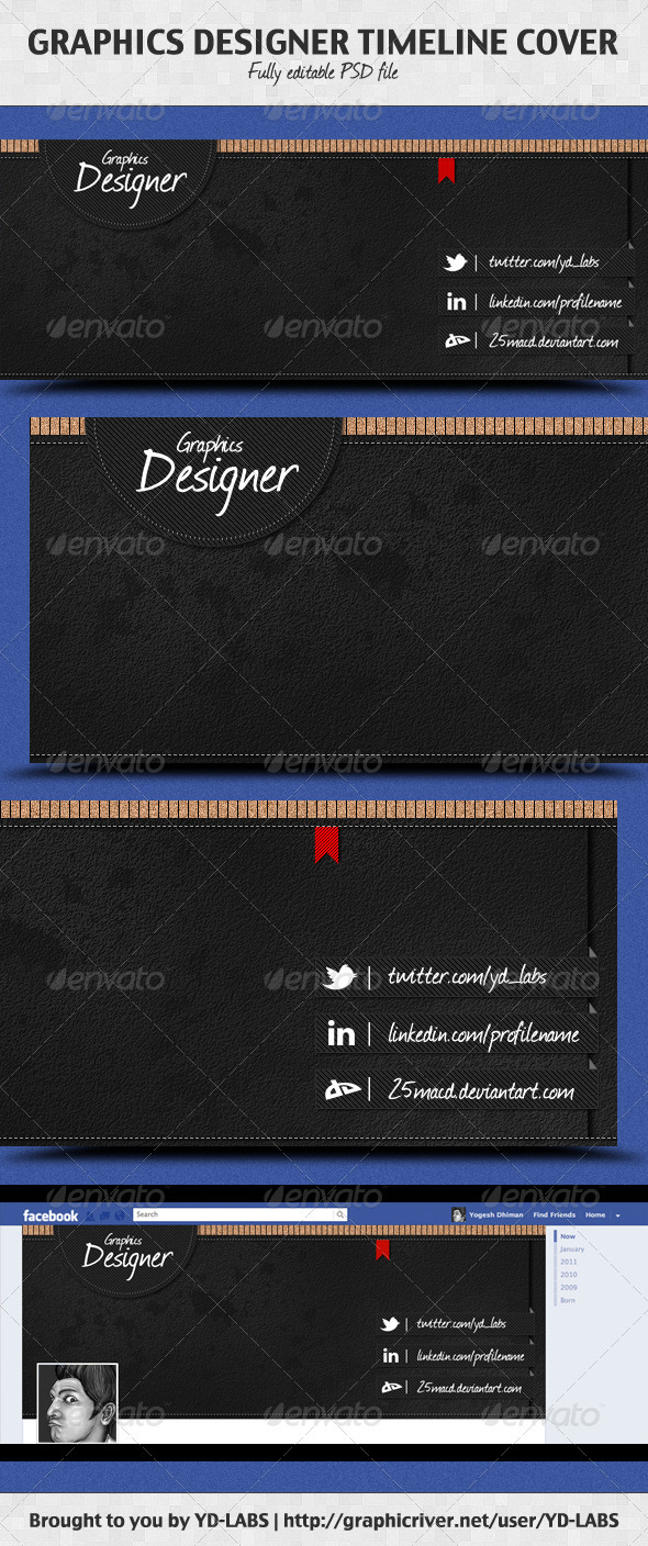 Graphics Designer Timeline Cover - Facebook Timeline Covers Social Media