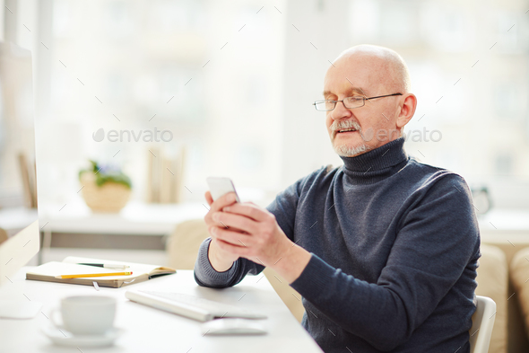 Man with smartphone - Stock Photo - Images