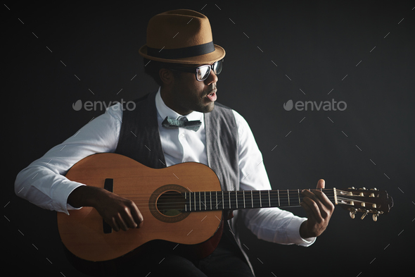 Musician and singer - Stock Photo - Images