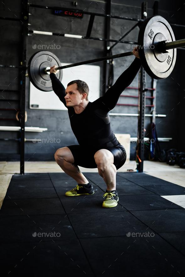 Sportsman training - Stock Photo - Images