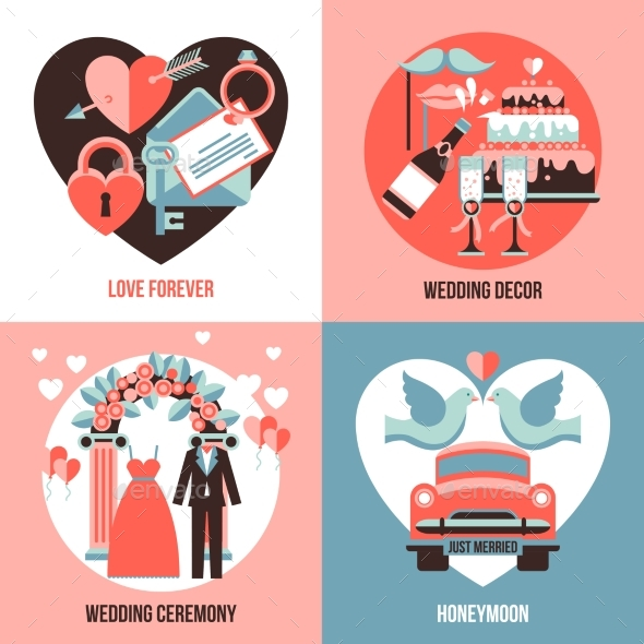 Wedding 2X2 Images Set - Weddings Seasons/Holidays