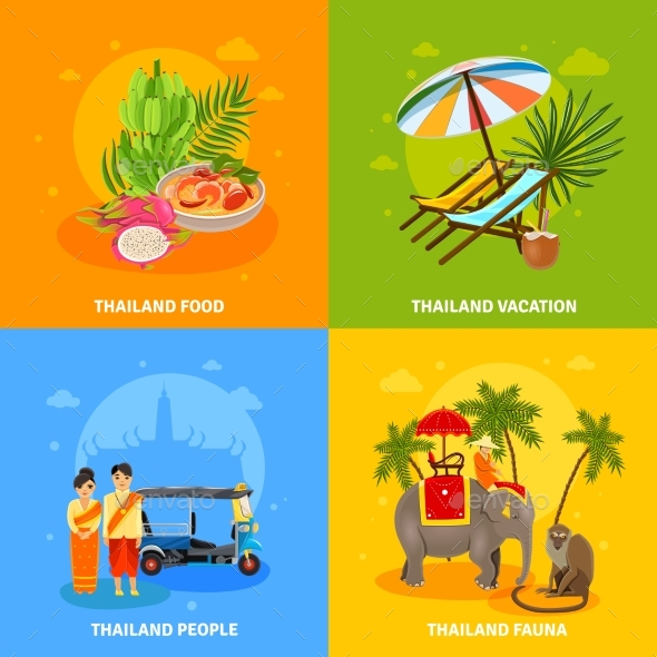 Thailand Concept Set - Travel Conceptual