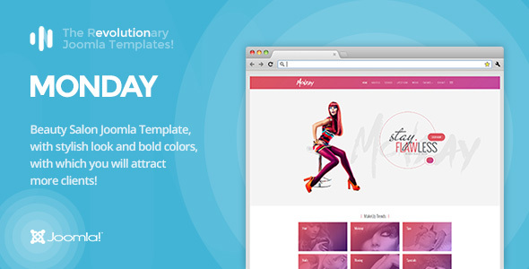IT Monday – Professional Joomla Template for Hair and Beauty Salon, Fashion, Spa, Spray Tan