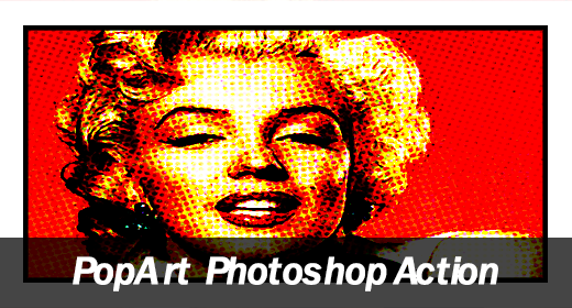 Pop Art Comic Book Photoshop Action