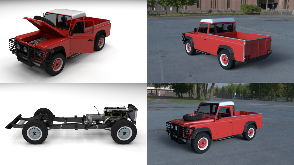 Land Rover Defender 110 Pick Up HDRI - 3DOcean Item for Sale