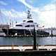 Luxury Private Yacht Docked In Sunny Habor - VideoHive Item for Sale