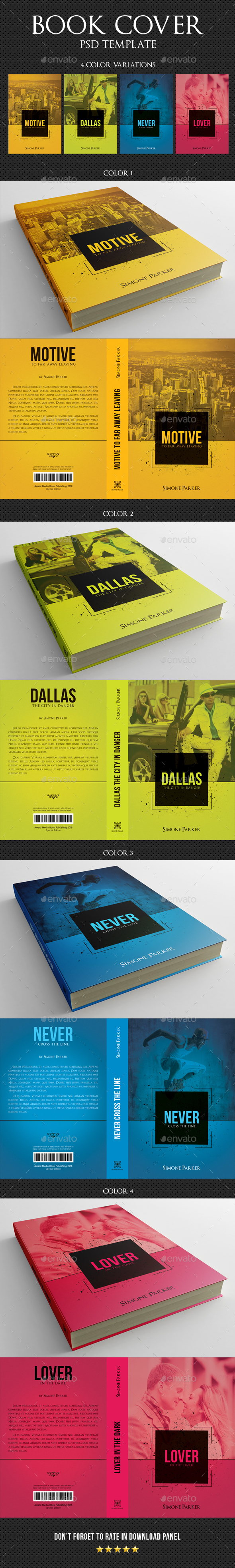 Book Cover Graphicriver : Book cover template by rapidgraf graphicriver