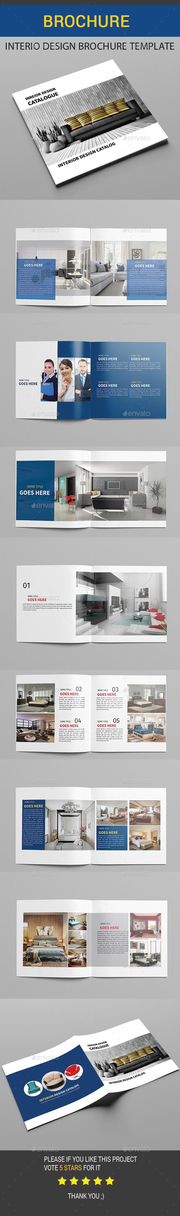 Interio Design Brochure Template - Brochures Print