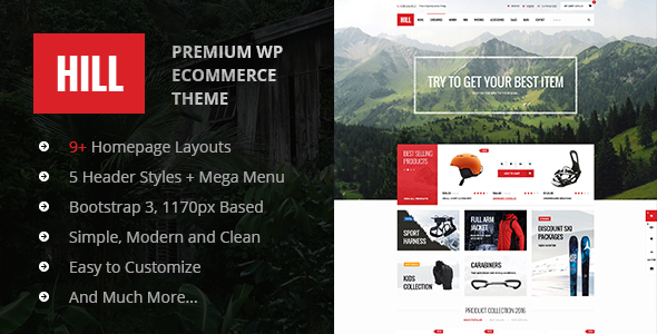 HILL – Premium Responsive WooCommerce Theme