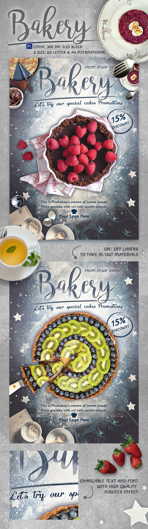Bakery Promotion Flyer Template - Restaurant Flyers