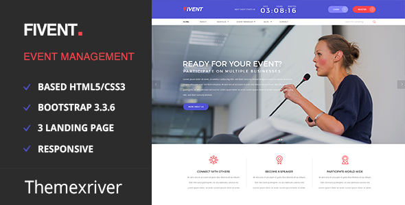 Event & Conference - Fivent - Entertainment Site Templates
