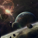 Sci-Fi Spacecraft Collided With Meteors - VideoHive Item for Sale