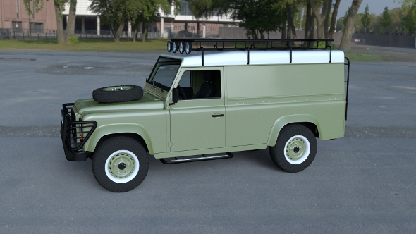 Land Rover Defender 110 Hard Top w interior HDRI - 3DOcean Item for Sale