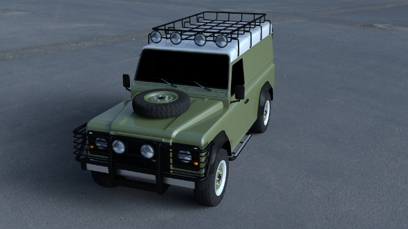 Land Rover Defender 110 Hard Top wo interior HDRI - 3DOcean Item for Sale