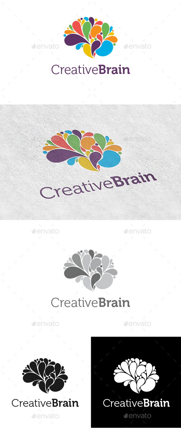 Creative Brain Logo - Logo Templates
