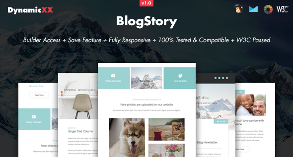 BlogStory – Responsive Email + Online Template Builder