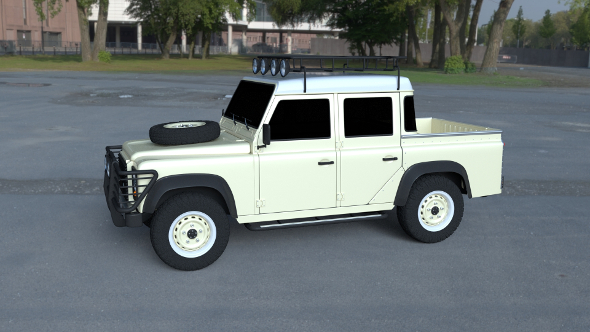 Land Rover Defender 110 Double Cab Pick Up exterior HDRI - 3DOcean Item for Sale