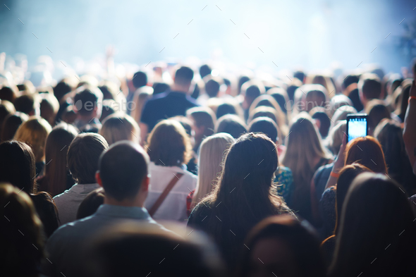 Crowd of fans - Stock Photo - Images