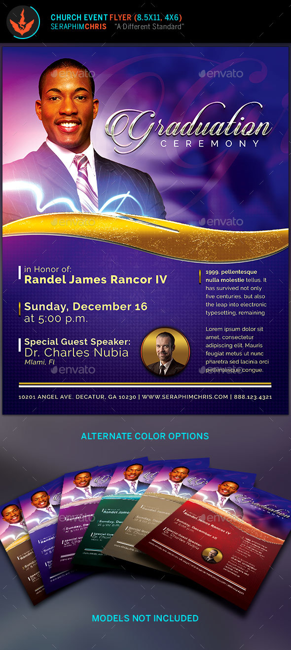 Pastor S Graduation Ceremony Flyer Template By