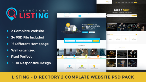 Listing – Directory Psd Template
