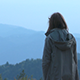 Girl On Mountains - VideoHive Item for Sale