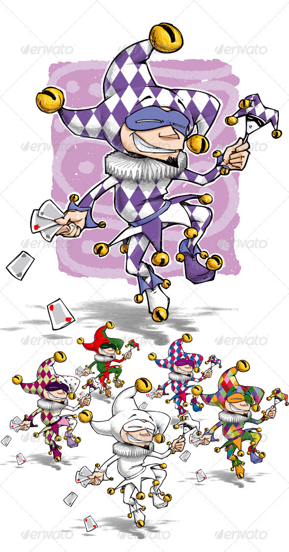 Happy Jester - Characters Vectors