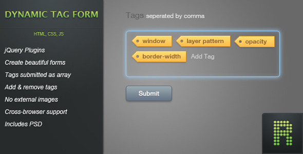Dynamic Tag Form - CodeCanyon Item for Sale