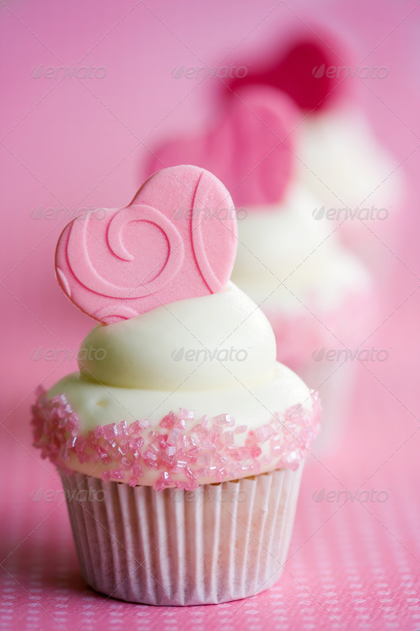 Valentine cupcakes - Stock Photo - Images