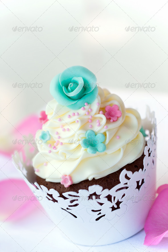 Wedding cupcake - Stock Photo - Images