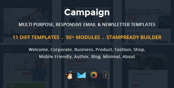 Campaign – Multipurpose Responsive Email Newletter Templates