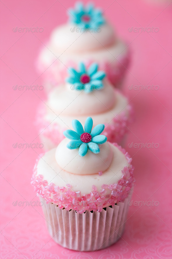 Flower cupcakes - Stock Photo - Images