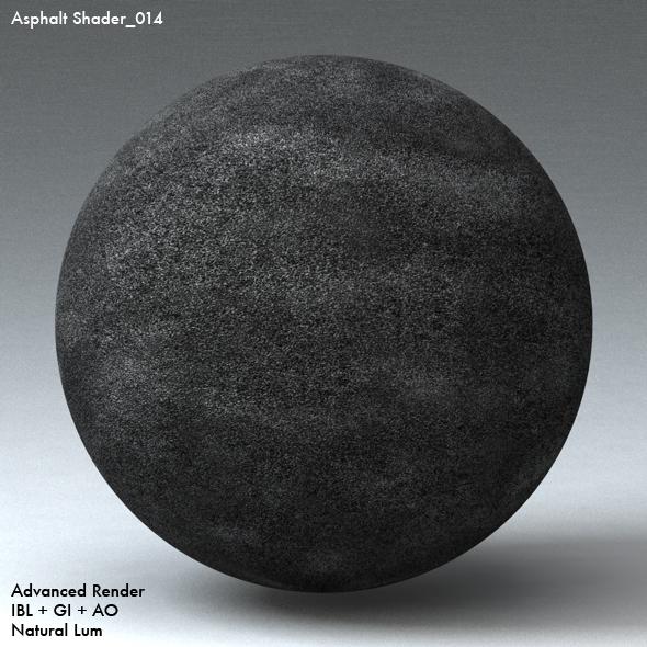 Asphalt Shader_014 - 3DOcean Item for Sale