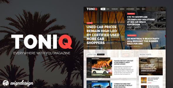 Toniq - Magazine WordPress Theme - Blog / Magazine WordPress