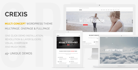 Crexis – Responsive Multi-Purpose WordPress Theme