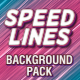 Speed Lines Background Pack - VideoHive Item for Sale