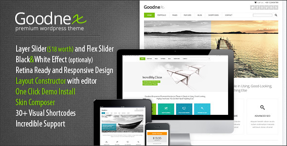 Goodnex | Creative Design Agency Responsive WordPress Theme