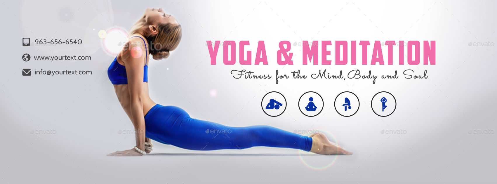 Yoga & Meditation Facebook Covers - 2 Designs by doto ...