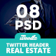Real Estate Twitters Headers - 08 PSD - GraphicRiver Item for Sale