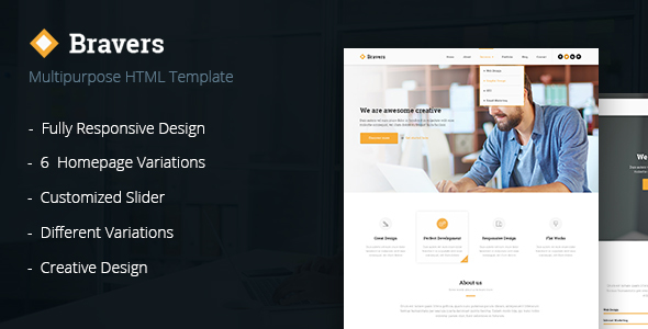 Bravers - Multipurpose HTML5 Template