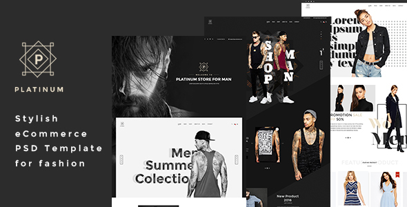 Platinum – Stylish ecommerce PSD Template for Fashion
