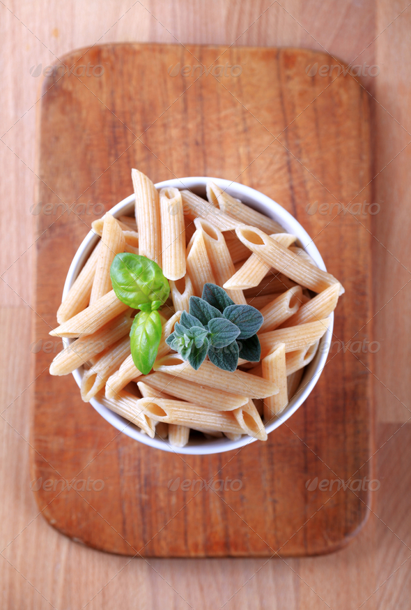 Whole wheat pasta - Stock Photo - Images