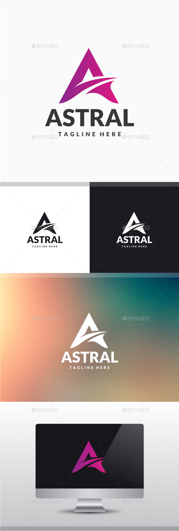 Astral - Letter A Logo - Letters Logo Templates