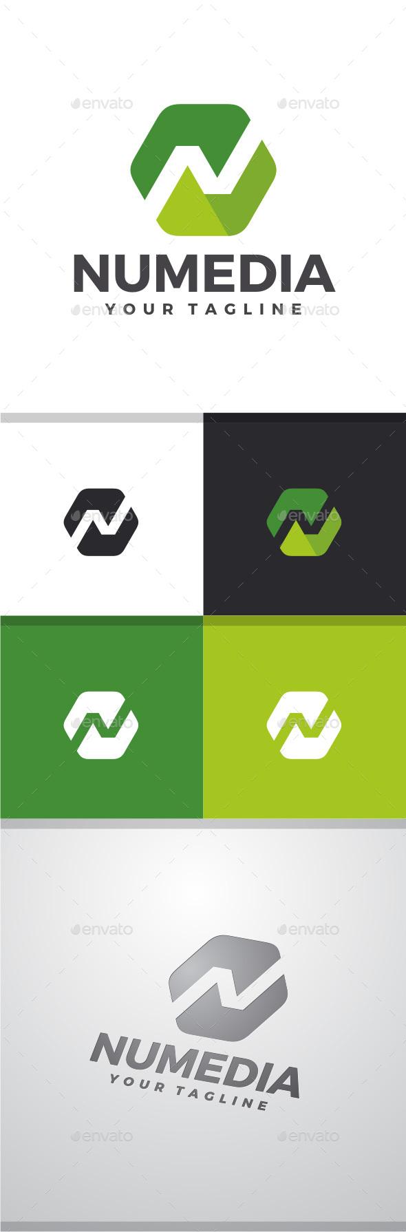 Nu Media - Letter N Logo - Letters Logo Templates