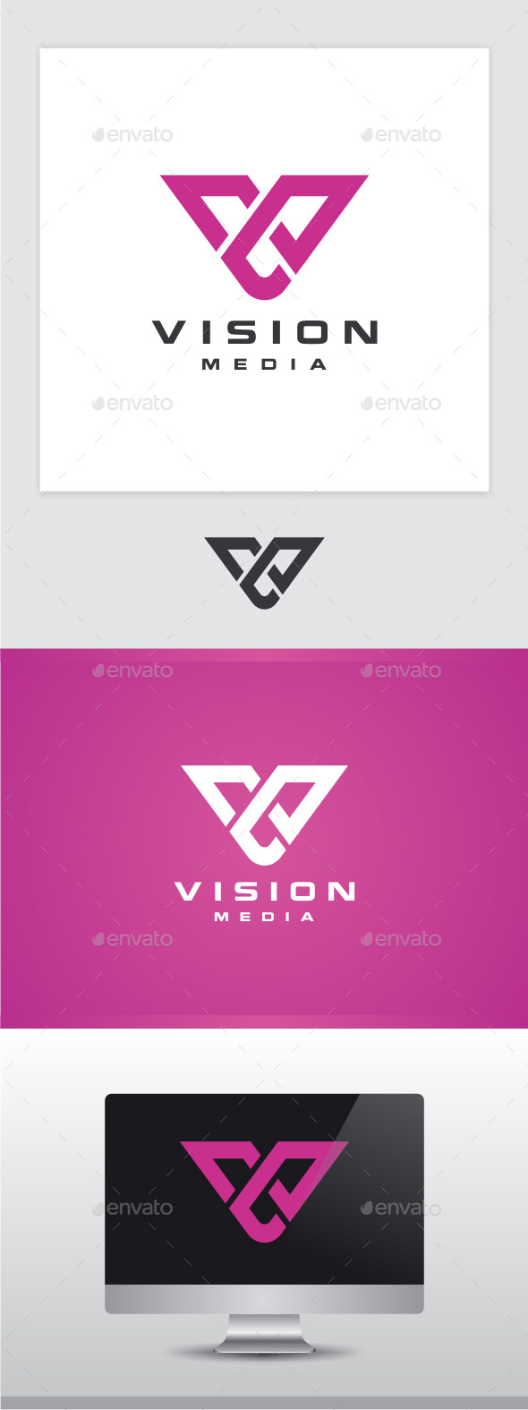 Vision - Letter V Logo - Letters Logo Templates