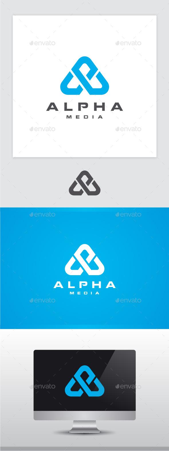 Alpha - Letter A Logo - Letters Logo Templates