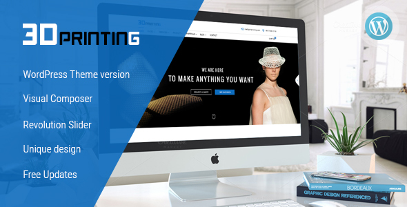 3D Printing - Responsive Elegant 3D Print & Scan Technology WordPress Theme - Technology WordPress