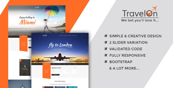 Travel On – Modern HTML Template for Travel Related Businesses