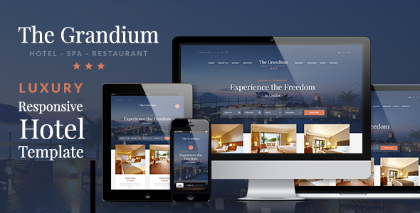 Grandium - Responsive Hotel Template - Travel Retail